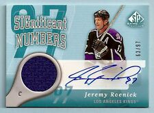 JEREMY ROENICK 2005/06 SP GAME USED SIGNIFICANT NUMBERS JERSEY AUTOGRAPH /97
