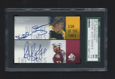 2000 SP Authentic Bobby Orr Ray Bourque Auto SGC 86 Bruins Avalanche