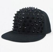 New Unisex Punk Hip-hop Cap Rapper Hat Rivets Spikes Spiky Studded Baseball Cap