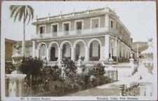 Trinidad, Sancti Spiritus, Cuba 1920s AZO Realphoto Postcard: 'Palacio Brunet'