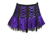 Dark Star Black Purple Gothic Punk Mini Corset Skirt