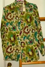 Tommy Bahama Ladies Floral Button Front Blouse NWT