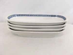 "Lamberton Scammell United Hotels 10"" Vintage Set of 4 Celery Dish (4)"