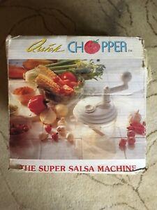 Quick Chopper: The Super Salsa  Machine - Complete Set.