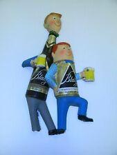 Blatz beer can man bottle guy sign advertising vacuform blowmold plastic damaged