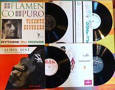 4 LP 25cm,rares.Alirio DIAZ,CAFE CANTE,Vicente ESCUDERO,Flamenco n°3.
