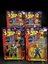 1995 TOYBIZ X-MEN X-FORCE SERIES 7 RARE 4 FIGURE SET ARTIC STEALTH CABLE D66