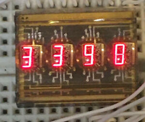 LX DL2416 16-segment  4 Digit alpha-numeric LED Display RARE (D-Brightness)