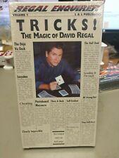 Vhs David Regal Volume 1 Tricks Video Tape