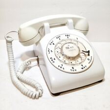 Vintage Bell Western Electric White Rotary Phone - Table Desk Dial - Model 500DM