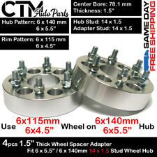 """4PC 1.5"""" THICK 6X5.5 to 6x4.5 WHEEL ADAPTER SPACER FIT ESCALADE/SILVERADO/TAHOE"""