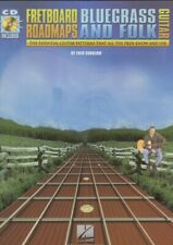 Fretboard Roadmaps Bluegrass and Folk Guitar Hal Leonard W/ Cd Free Shipping!