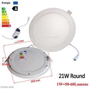 Dimmable Epistar Recessed LED Panel Light 9W 12W 15W 18W 21W Ceiling Down Lights