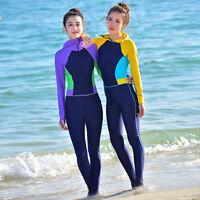Woman Surfing Full Body Swimsuit Swimwear Diving Skin Suit Rash Guard With Hood