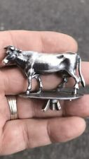 Antique Victorian Style Solid Silver Cow Figure Statue Animal For Teapot Lid Or?