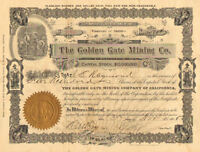 The Golden Gate Mining Co. > 1906 Arizona Mud Springs share stock certificate