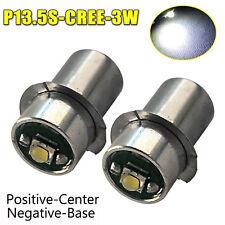 2X LED UPGRADE P13.5S CREE BULB GLOBE for MAGLITE TORCH FLASHLIGHT 1-9V AU