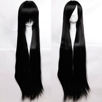 Long Big Wavy Dark Wine Red Hair Women Heat Resistant Fiber Wig Party Cosplay