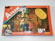 "A-TEAM 3,5"" COMBAT HEADQUARTERS SET 100% COMPLETE IN ORIGINAL BOX - GALOOB 1983"