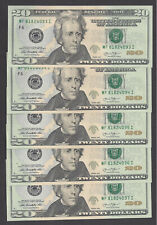 FIVE $20 FEDERAL RESERVE NOTES 2013 ATLANTA (MF/I) UNC