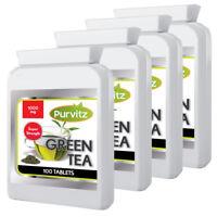 Tè Verde Compresse Alto Tenore Fatto UK Vegetariani Amichevole Purvitz