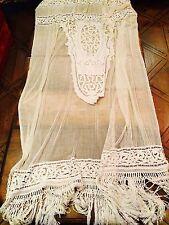 Ancien rideau au crochet époque XIXème Napoléon III-1900