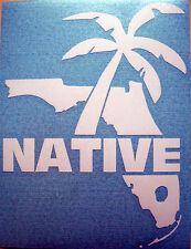 Florida Native Vinyl Window Decal Sticker