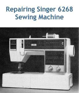 Singer 6267 6268 Sewing Machine/Embroidery/Serger SERVICE Manual + 2 Bonuses