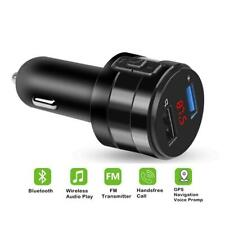 Car FM Transmitter Cigarette Lighter Bluetooth MP3 Player Dual USB Charger