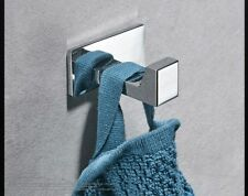 Self Adhesive Soild Brass Chrome Rack Hook Sticky Bathroom Kitchen Towel Hanger