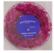 New ! 35' Tinsel Garland Hot Pink Color