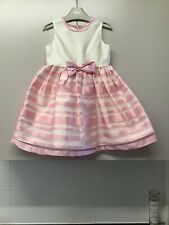 Toddler Girls Jayne Copeland Pink White Party Dress Striped Lined Age 3 Years