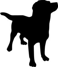 Labrador Aufkleber Viele Farben Größe 11 cm x 10 cm DECUT DECAL JDM ANSEHEN
