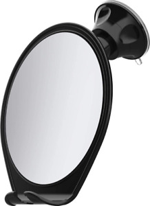 HoneyBull Shower Mirror for Shaving Fogless with Suction, Razor Holder  Swivel