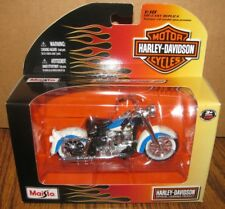Harley Davidson 1958 FLH DUO GLIDE Motorcycle 1/18 Toy 2010 Series 27 Blue  New