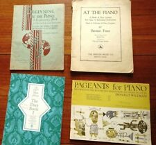 4 Antique Piano Instruction books 1935, 1937 etc