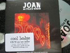 Joan As Police WomanI Defy Reveal Records Reveal 32P Promo sticker UK CD Single