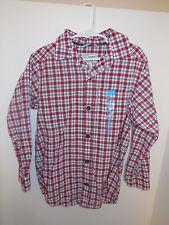 Boys Children's Place Long Sleeve Plaid Button Down Shirt Size S 5/6 NWT