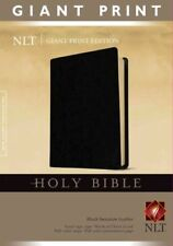 Giant Print Bible-NLT by Tyndale 9781414314280 (Leather / fine binding, 2008)