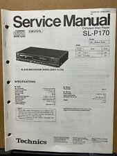 Service Manual for the Technics SL-P170 CD Player ~ Repair