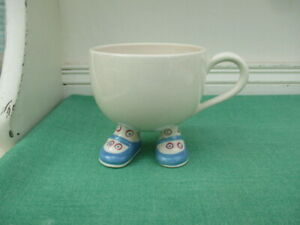 Carlton Ware Walking Ware Lustre Cup - Blue spotty shoes