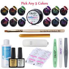 Pick 5 Colors Elite99 Chameleon Gel Nail Polish Brush Pen LED Lamp Starter Kits