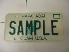 Guam License Plate SAMPLE
