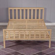 4FT6 Standard Double Bed Frame Solid Wooden Pine For Kid Adult Bedstead Bedroom