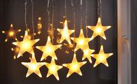 LED Lichterkette Sterne Weihnachtsbeleuchtung Innenbeleuchtung 100 Lichter weiß