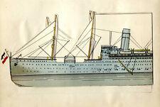 "Doppelschrauben-Dampfschiff ""George Washington"" Vulkan Stettin Papiermodell 1910"