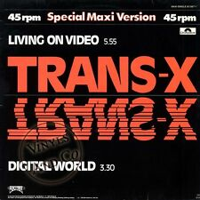 TRANS-X - Living On Video [Black Lettered Labels] Maxi-Single 1983 Germany 12""