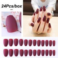 Pure Colour Soft Fake Nails Matte False Nails Nail Extensions Nail Tip Patch