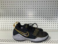 Nike PG 1 GS Boys Youth Athletic Basketball Shoes Size 7Y Black Yellow Gray