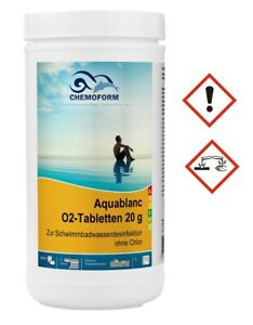 O2 Mini Tabletten 20 g | Aktiv-Sauerstoff Desinfektion Wasserpflege ohne Chlor